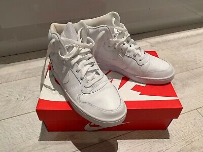 Nike Ebernon Mid Mens Boys Trainers White Boxed Size 7 41 Worn Once