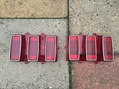 Original Oem Classic Ford Mustang 1969 Coupe Rear Tail Lights Lenses Lamps