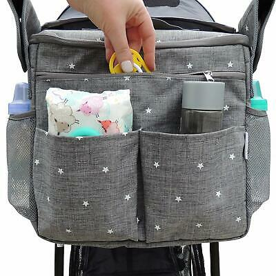 Universal Stroller Organizer Parents Bag by Ozziko. Large Parent Console with In
