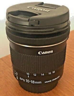 Canon EF-S 10-18 mm F/4.5-5.6 IS STM Lens - good used condition