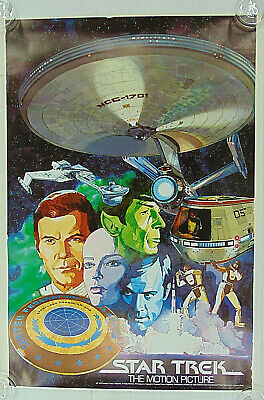Rare Vintage 1980 Weetabix Offer Star Trek The Motion Picture Poster Colourfull