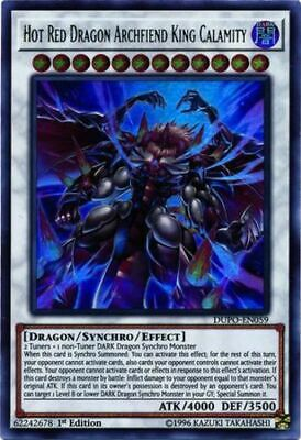 YuGiOh Hot Red Dragon Archfiend King Calamity - DUPO-EN059 - Ultra Rare - 1st Ed