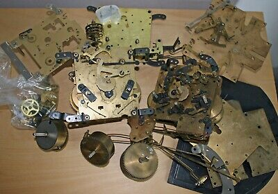 Clock Parts - Movements and various other parts - Untested - Approx 5Kgs