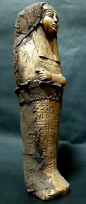 ANCIENT EGYPTIAN ANTIQUE USHABTI SHABTI With HIEROGLYPHICS Servant ISIS EGYPT BC