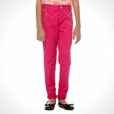 BNWT GIRLS DESIGNER TED BAKER ZIP DETAIL PINK JEANS / TROUSERS, 12yrs, RRP £24!