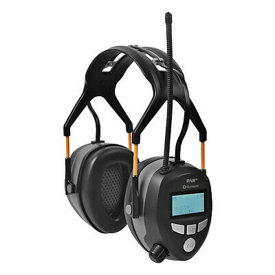 Bluetooth FM/DAB+ Radio Ear Defenders with Rechargeable Battery 2019 Model