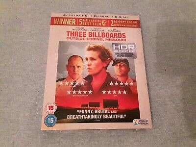 Three Billboards Outside Ebbing Missouri  4K + 1080p Blu Ray Excellent Condition