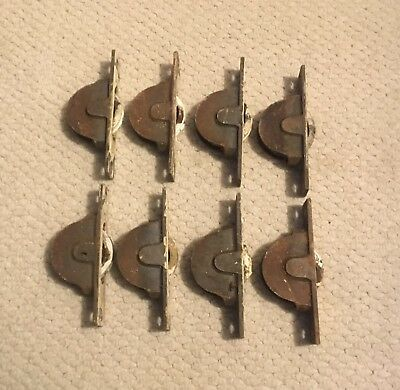 Set Of 8 Vintage Cast Iron Sash Window Wheels, Pulleys, Rollers 1800/1900