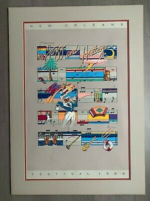 1984 New Orleans Jazz Festival Poster - Triple Matted & LOW Numbered