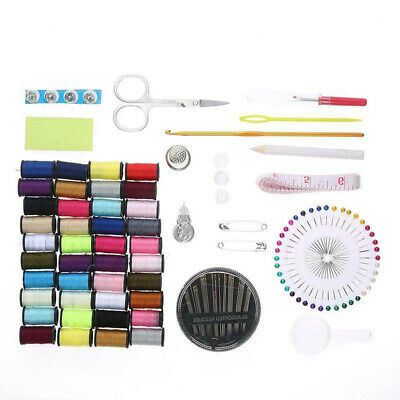 128x Home Travel Sewing Kit Thread Threader Needle Tape Measure Scissor Thimble