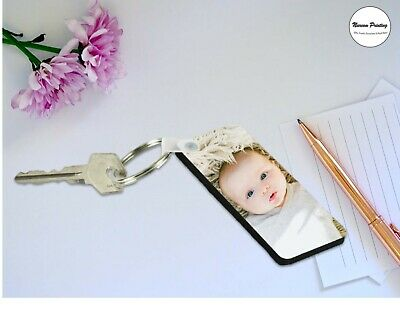 Personalised Photo Keyring Any Picture Custom Image Single Side Print