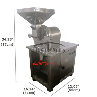 USED 110V Commercial Grain Stainless Steel Dry Grinder Pulverizer Universal