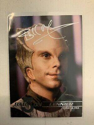 Babylon 5 Bill Mummy Hand Signed Lennier 1995 Fleer Trading Card #12
