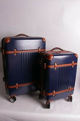 New Mark Graham Terminal 1 checked & carry on spinner luggage set suitcase navy