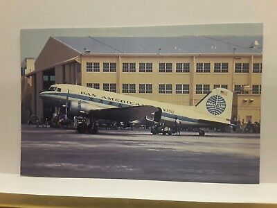 US Post Card Pan American  Airways DC-3 Airplane