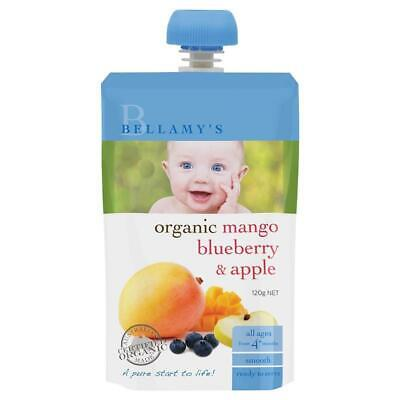 Bellamy's Organic Mango Blueberry and Apple 120g Nutritious Baby Food
