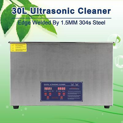 Professional 30L Ultrasonic Jewelry Cleaning Cleaner Machine with Heater & Timer