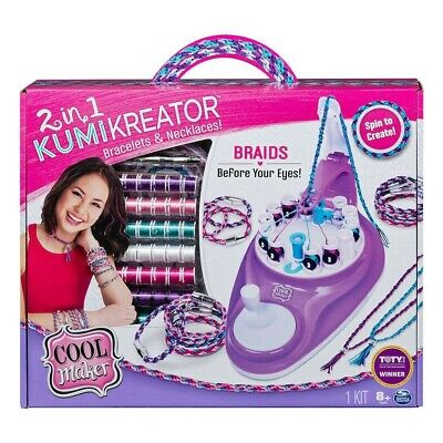 NEW Cool Maker 2in1 Kumi Kreator Bracelet Necklace Maker Art Craft Birthday Gift