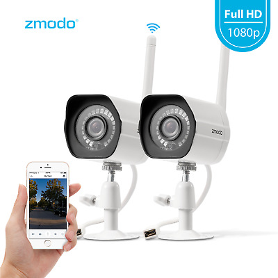 1080p Wireless Home Security IP Camera System(2 Pack) Indoor Outdoor Remote View