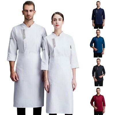 Adjustable Long Sleeve Chef Jacket Spring Breathable Work Uniform Hotel Kitchen