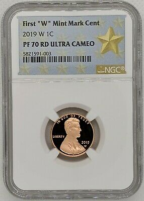 2019 W NGC PF70 Ultra Cameo Lincoln Shield Cent - West Point Mint