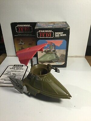 Vintage Star Wars Mini Rig Desert Sail Skiff Vehicle With Box & Instructions VGC
