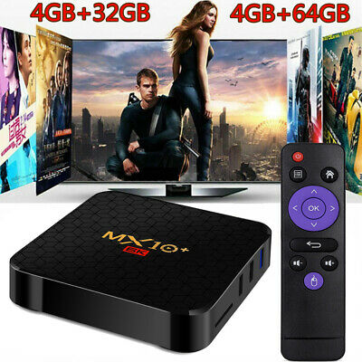 MX10 Plus 4GB+64GB Smart TV Box Android 9.0 UHD 6K 5G WiFi H.265 +Tastiera V0A5