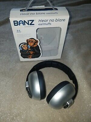 Banz Baby Ear Defenders 0-2 Years Silver With Box
