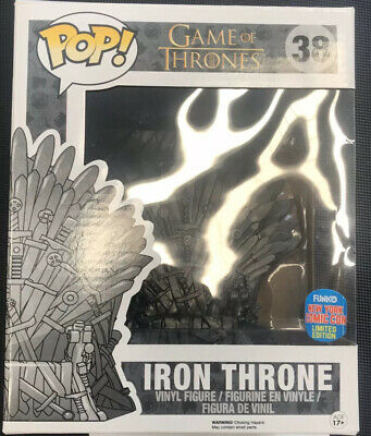 Funko Pop Figure New York Comic Con Excl. Game Of Thrones large Iron Throne