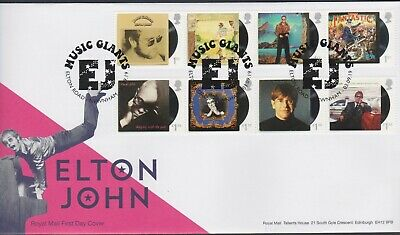 2019 - Elton John FDC - Music Giants Elton Road, Newnham Pmk - Post Free
