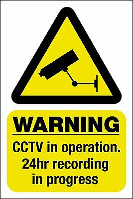 CCTV In Operation Sticker - Pack of 2 Security Camera Warning Sign Window Sticke