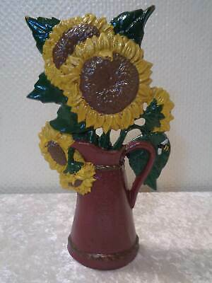 Cast Iron Door Stopper Sunflower - 2 kg - Antique Look