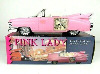 Pink Lady Fifties Car Alarm Clock makes sounds
