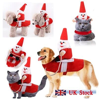 Christmas Pet Xmas Reindeer Dog Costume Cat Hoodie Clothes Coat Puppy Outfit