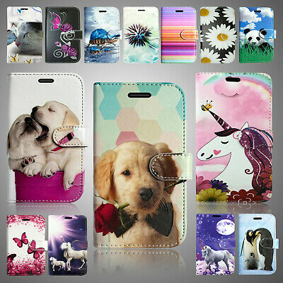 For Samsung Galaxy A10 Pu Leather Wallet Book Flip Premium Phone Fone Case Cover