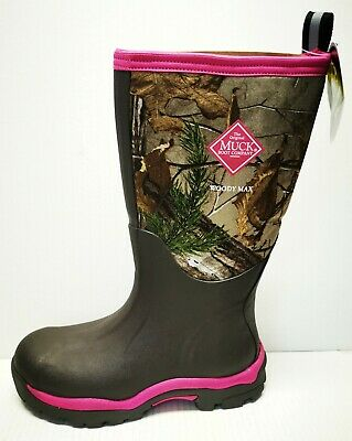 WDW-4RTX Muck Boots Women/'s Woody Max Realtree XT Pink Camo Most Sizes