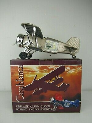 Casablanca vtg airplane Toy Alarm clock w engine sound in good condition