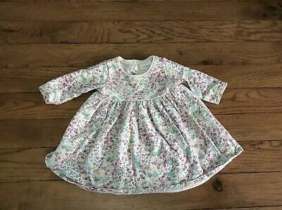 NEXT Baby Girls Floral Dress Long Sleeved Newborn One Month