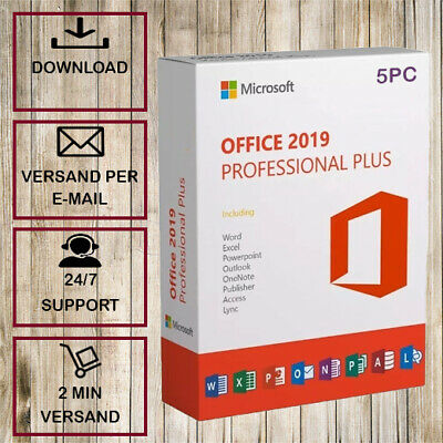 Office 2019 Pro Plus ✓ Professional Plus ✓1-5PC ✓32/64 Bit ✓ESD per E-Mail