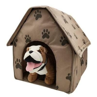 AU Winter Pet Dog House Kennel Soft Beds Cave Cat Puppy Bed Doggy Warm Cushion