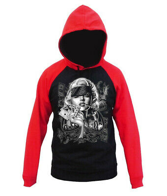 Velocitee Speed Shop Mens Hoodie Marilyn Monroe Gangster Pose A17543