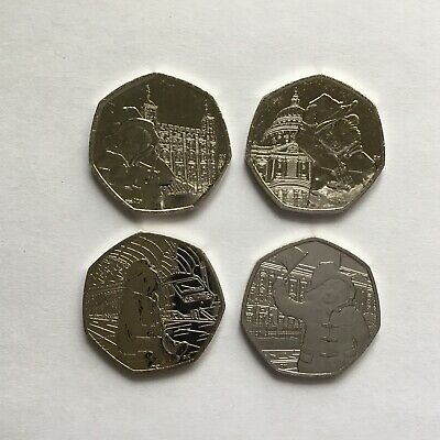 Complete Set Paddington Bear 50p At Station The Palace Tower Of London St Pauls