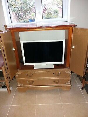 Tv Cabinet Shabby Chic Antique Gold 15 00 Picclick Uk