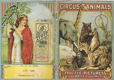 c1900 CALIFORNIA FIG SYRUP COMPANY ADVERTISING BOOKLET Childrens Picture Puzzles