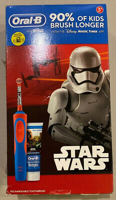 Oral-B Star Wars Kids Electric Toothbrush Stages Power +Toothpaste GiftSet NEW