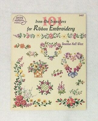 101 Iron On Transfers for Ribbon Embroidery How to Stitch Flowers C76 West PB