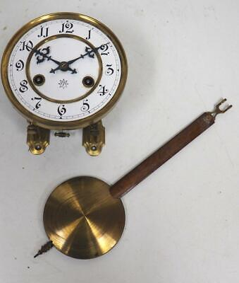 Antique German HAC 8 Day Gong Striking Vienna Wall Clock Movement Spares parts