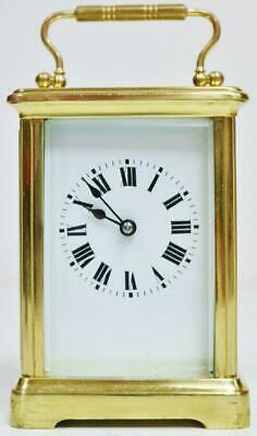 Classic Antique French 8 Day Timepiece Carriage Clock With Platform Escapement