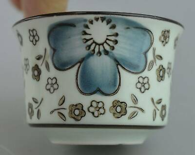 China Collectable Handwork Porcelain paint Beauty Flower Lucky Old Wine Cup