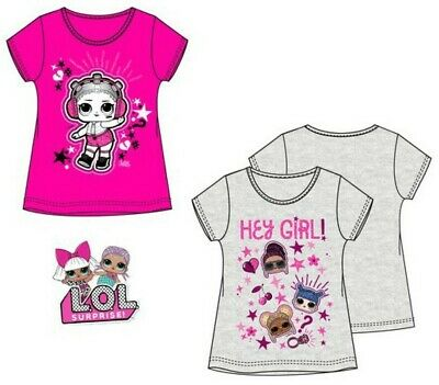 Girls Kids Children LOL Surprise Dolls Short Sleeve T-shirt Top Age 6-12 years